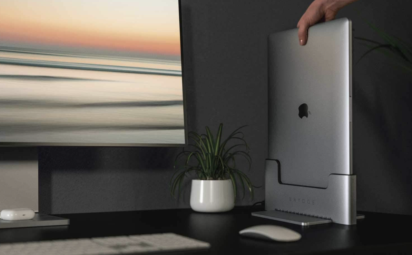 Complete your desktop setup with a stylish Brydge Vertical Dock at $20 off