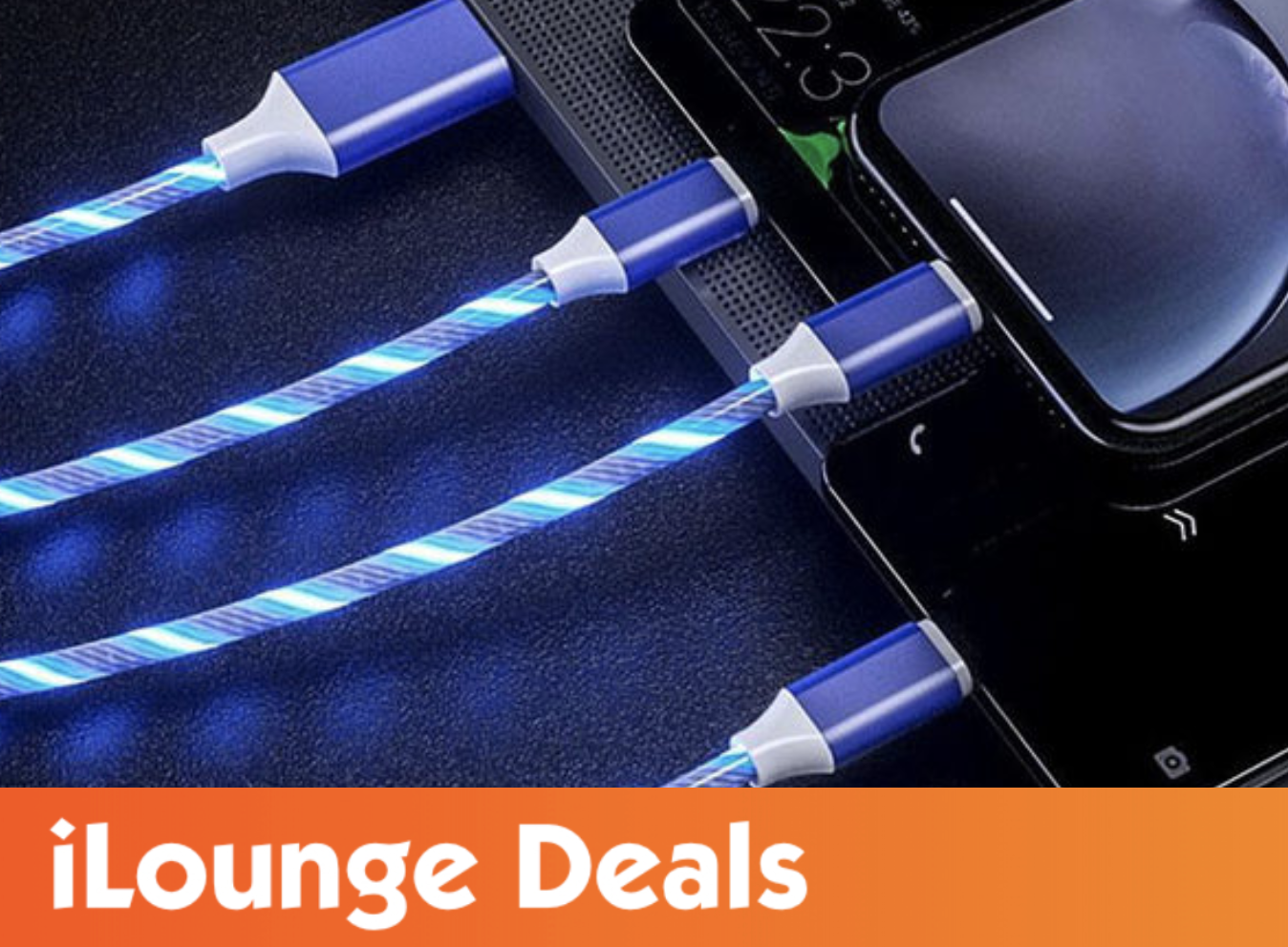 LED Light 3-in-1 Micro/Type-C/Lightning Charger Cable is 58% off