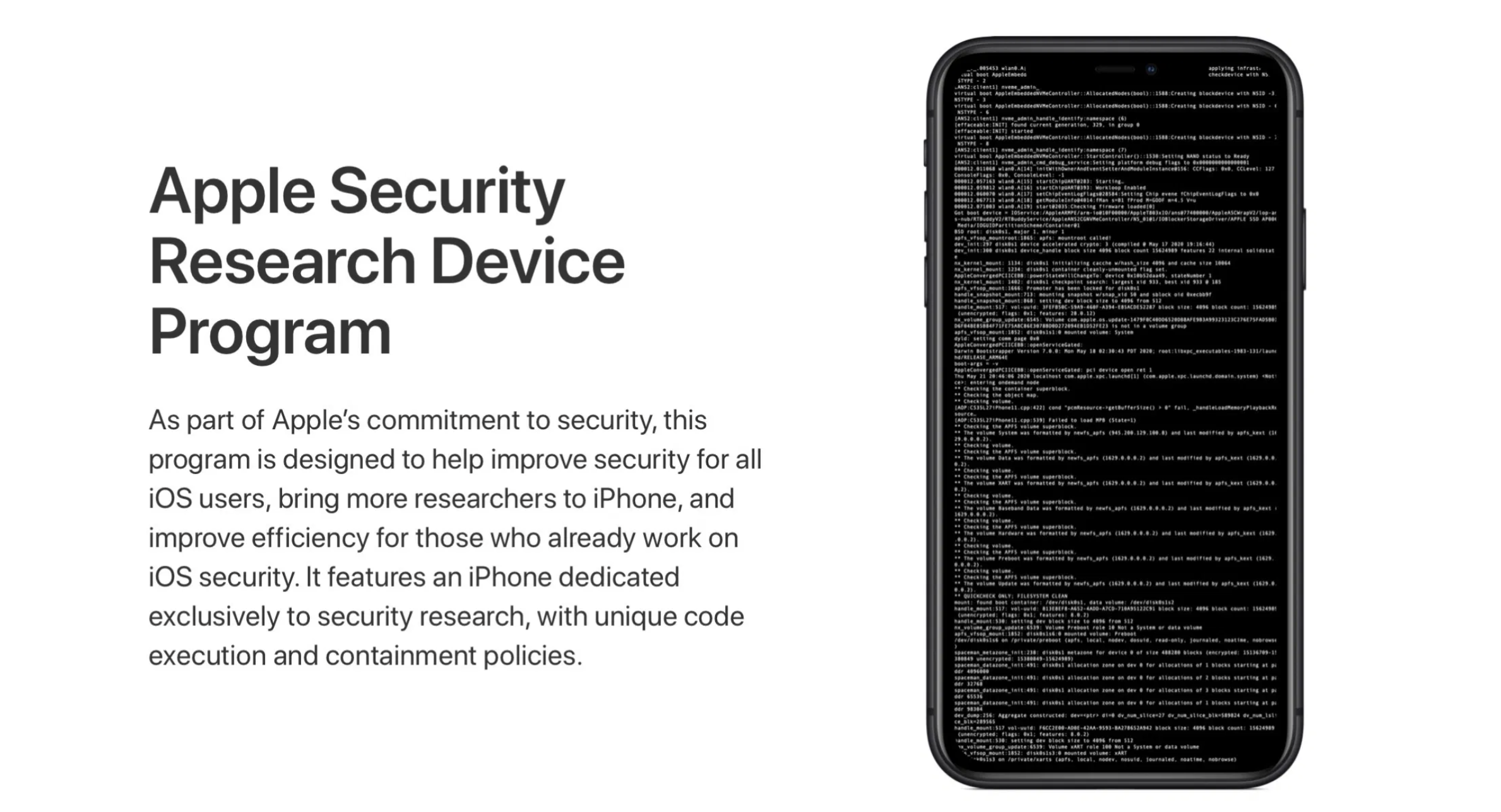 Apple starts shipping special iPhones as Part of Security Research Device Program