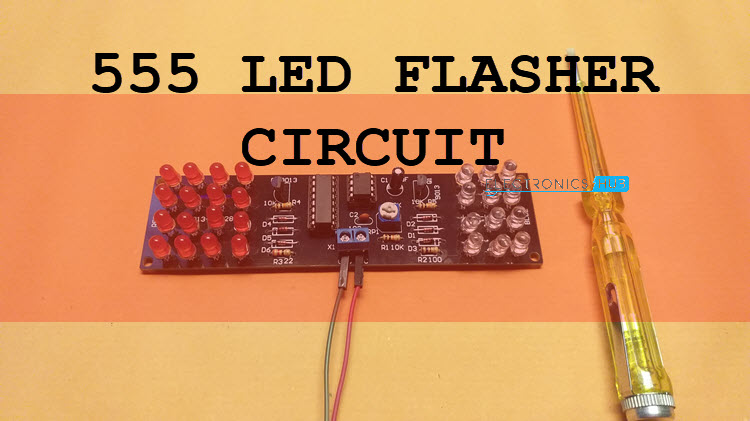 How to Design a 555 LED Flasher Circuit? 555 and 4017 IC