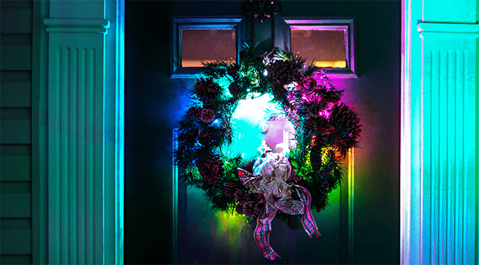 How to Make a DIY Christmas Wreath With LED Strip Lights