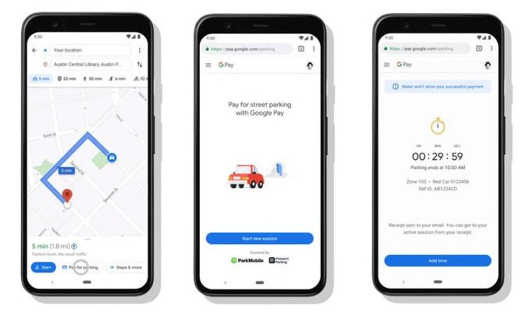 Google Maps app will let you pay for parking tickets and train tickets