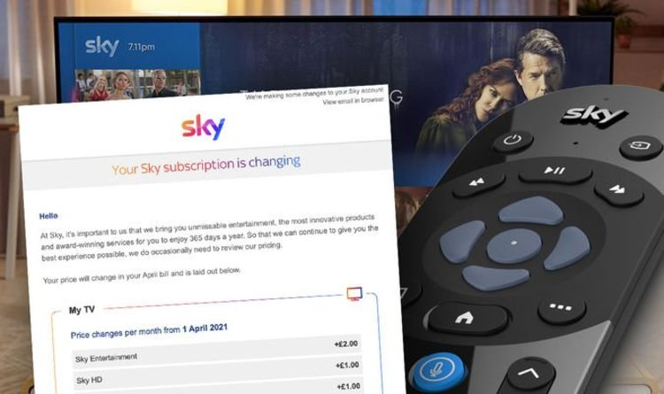 If you get this email from Sky, there's bad news about your next TV bill
