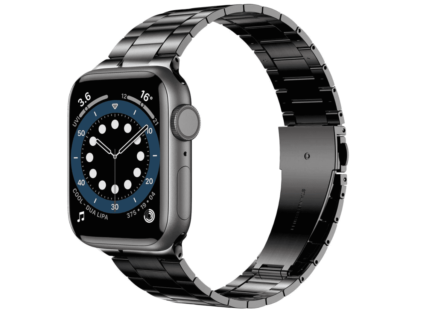 Achieve a stylish look with the Anwaut stainless steel wristband for your Apple Watch, now only $13