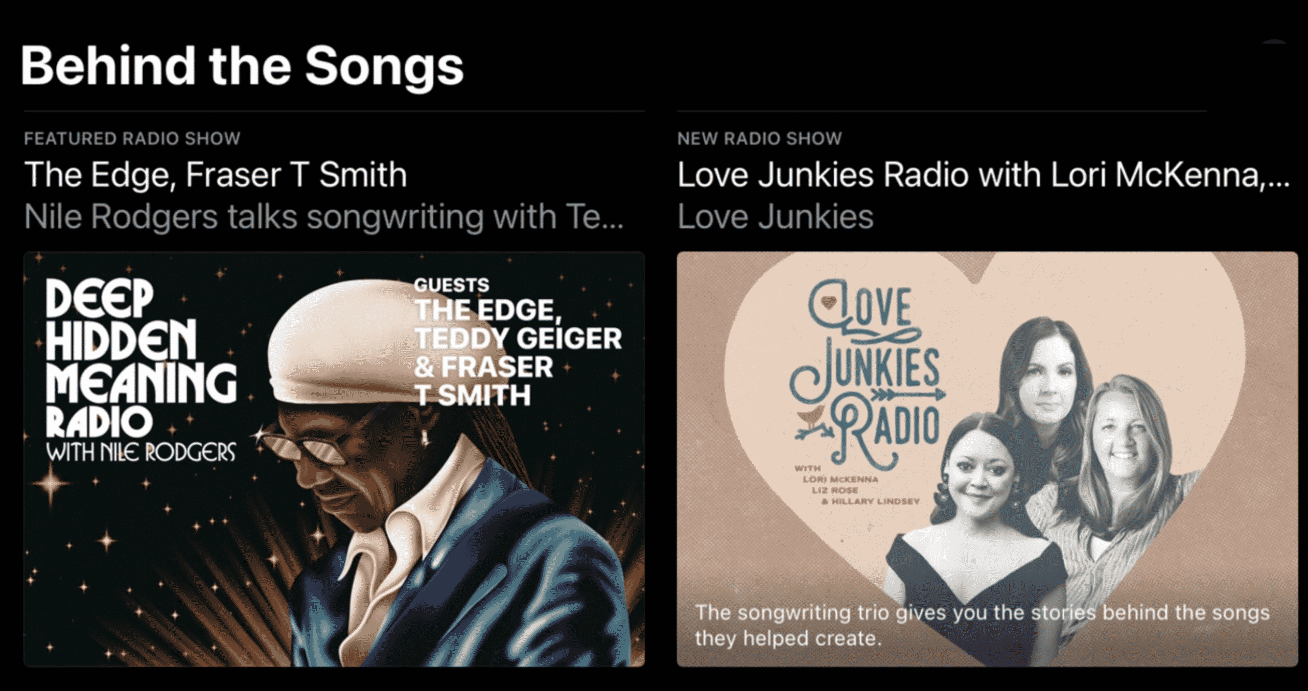 Apple Music hub has new 'Behind the Songs' feature