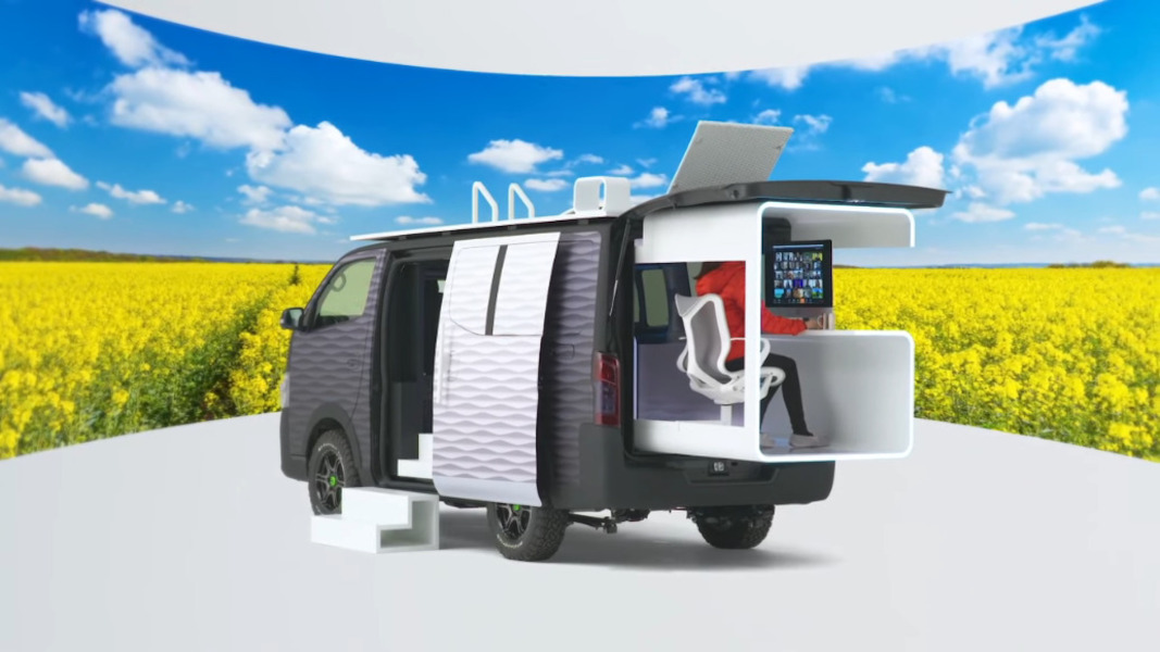 Nissan's Office Pod Concept Is A Productivity Paradise On Wheels