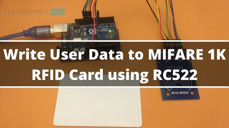 How to Write Data to RFID Card using RC522 RFID Module?