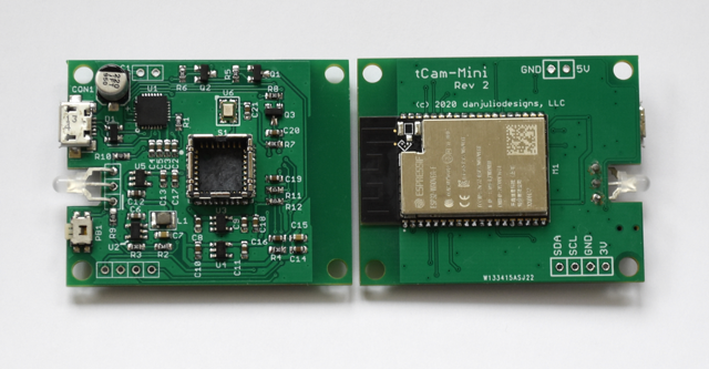 TCam-Mini: Adding Wireless To Flir Lepton Thermal Imaging Sensors