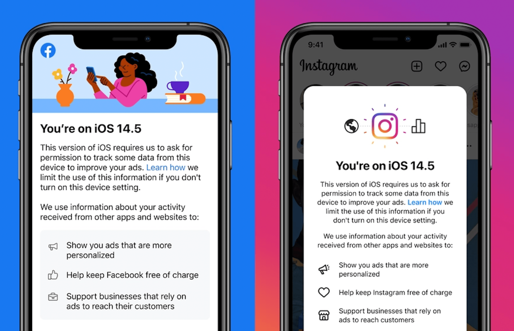 iOS 14.5 users asked to enable Facebook Tracking to continue using its Apps for free
