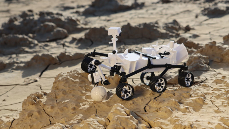 3D Printed Mars Rover Smiles For The Camera