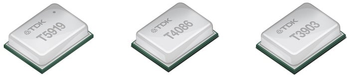 Three new MEMS microphones from TDK.