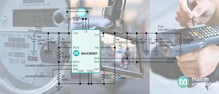 New Buck/Boost Regulator Focuses on Managing Supercapacitor Backup Power Systems