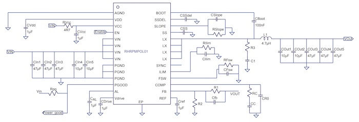 Typical application circuit of the RHRPMPOLO01.