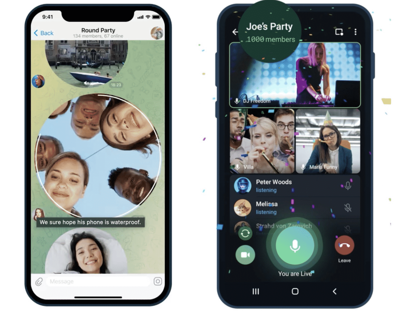 Telegram Messenger update now allows up to 1,000 viewers on a video call