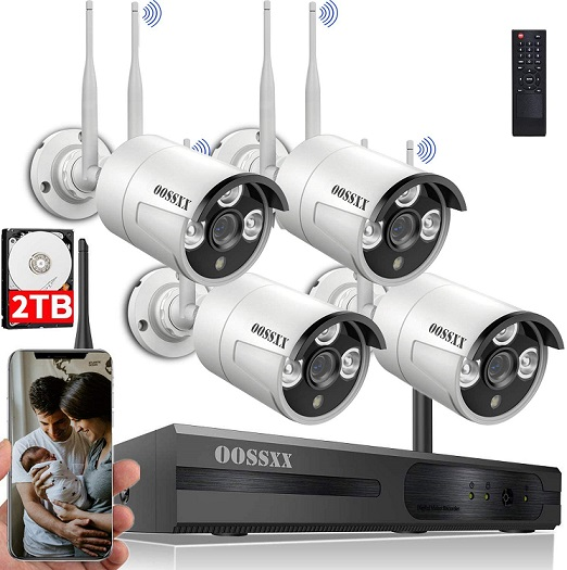 OOSSXX Wireless Security Camera System