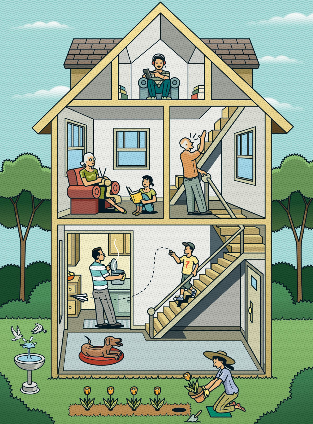 Fall 2021 Home Finances, grandparents/kids in house