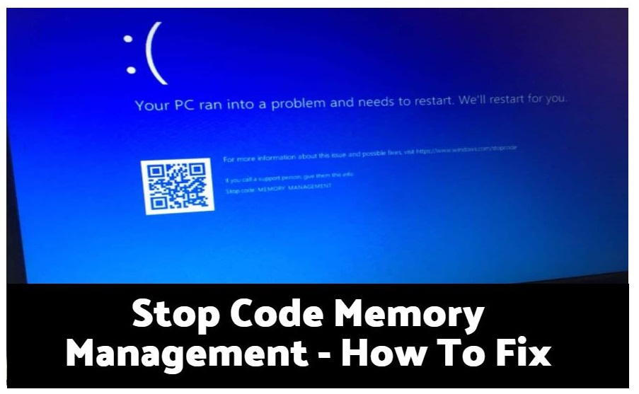 Stop Code Memory Management – How To Fix