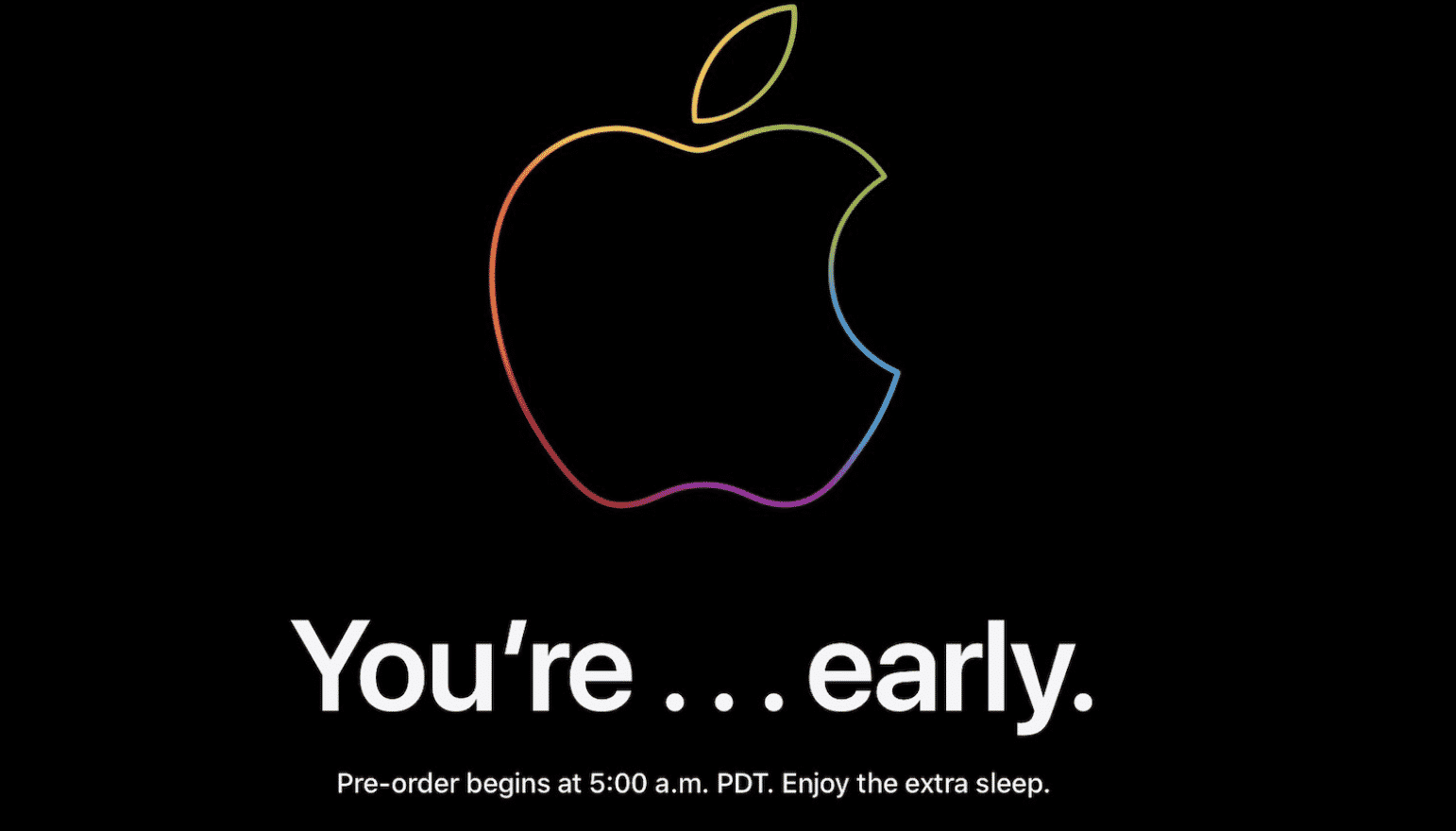 Apple iPhone 13 and 13 Pro Pre-Order page shows 'You're Early' banner